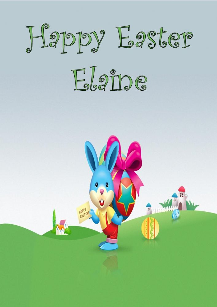 Personalised Easter Bunny Easter Card
